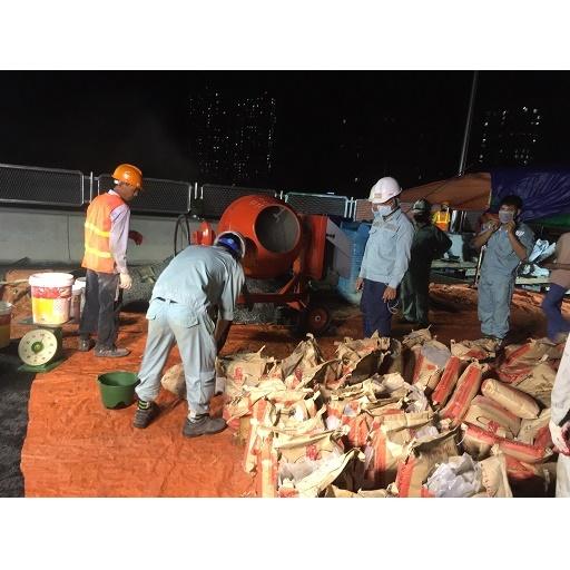 Nhà thầu Sumitomo dùng vữa Victa-Grout cho cầu cạn Mai dịch - Nam Thăng Long